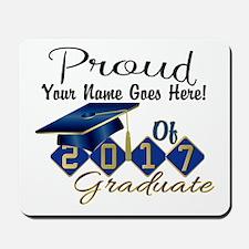 Proud 2017 Graduate Blue Mousepad