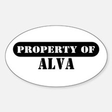 Property of Alva Oval Decal