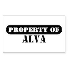 Property of Alva Rectangle Decal