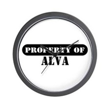 Property of Alva Wall Clock