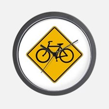 Bicycle Traffic - USA Wall Clock