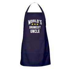 World's Drunkest Uncle Apron (dark)