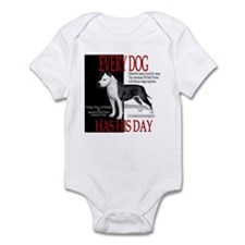 every dog has his day pit bull design Infant Bodys