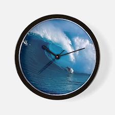 Big Wave Surfing Wall Clock