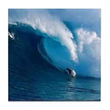 Big Wave Surfing Tile Coaster