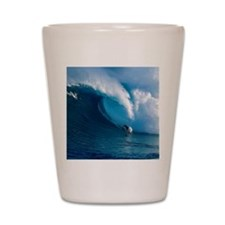 Big Wave Surfing Shot Glass
