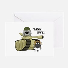 Komondor-Tank Ewe Greeting Card