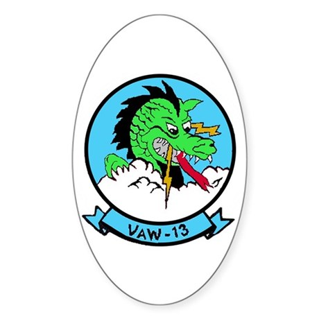 VAW 13 Zappers Oval Sticker