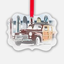 Vintage Woody Art Ornament