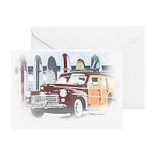 Vintage Woody Art Greeting Card