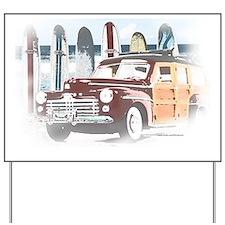 Vintage Woody Art Yard Sign