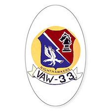 VAW 33 Knighthawks Oval Decal