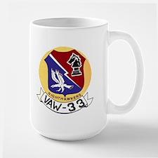 VAW 33 Knighthawks Large Mug