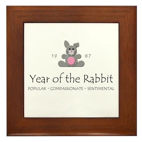 """""""Year of the Rabbit"""" [1987] Framed Tile"""