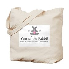 """Year of the Rabbit"" [1987] Tote Bag"
