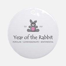 """""""Year of the Rabbit"""" [1999] Ornament (Round)"""