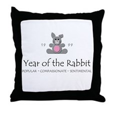 """Year of the Rabbit"" [1999] Throw Pillow"