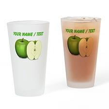 Custom Green Apples Drinking Glass