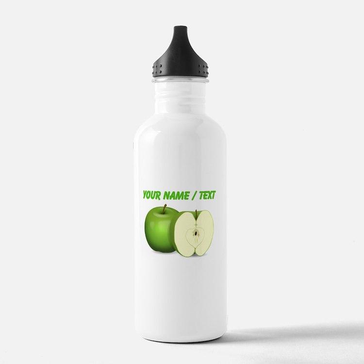 Custom Green Apples Sports Water Bottle