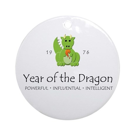 """Year of the Dragon"" [1976] Ornament (Round)"