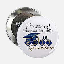 """Proud 2017 Graduate Blue 2.25"""" Button (10 pack)"""