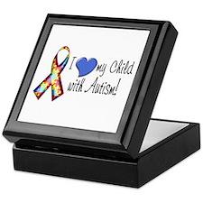 I love my child with autism Keepsake Box