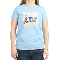 I love my child with autism Women's Pink T-Shirt