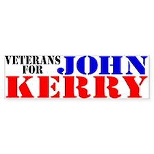 Veterans for Kerry Bumper Bumper Sticker