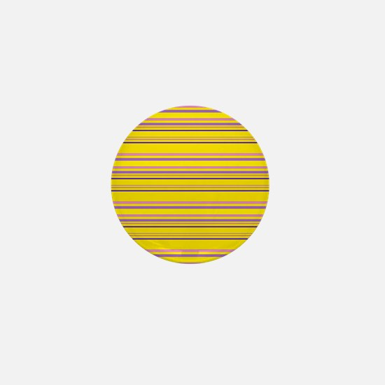 Yellow Grunge Mini Button