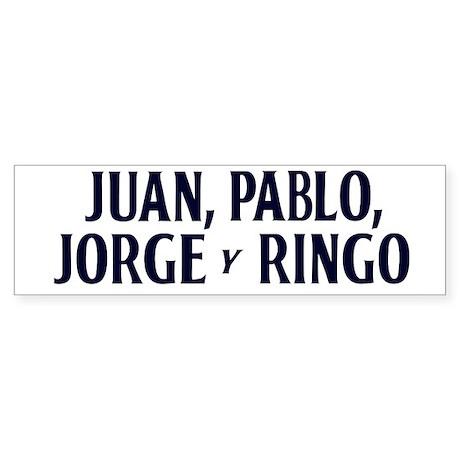 Juan Pablo Jorge y Ringo bumpersticker