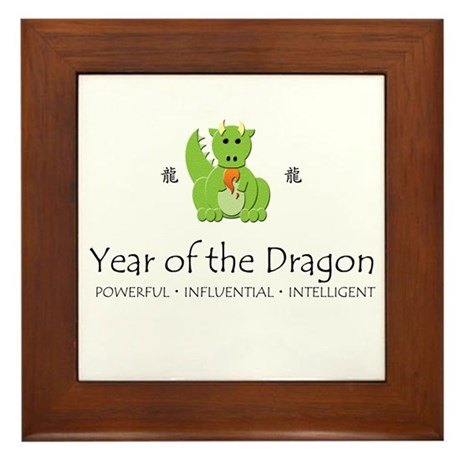 """Year of the Dragon"" Framed Tile"
