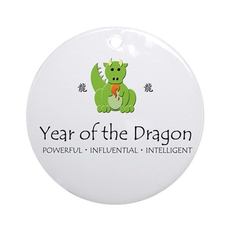 """Year of the Dragon"" Ornament (Round)"