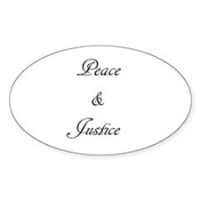 Peace and Justice Decal