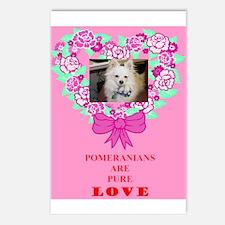 Pomeranian Valentine Postcards (Package