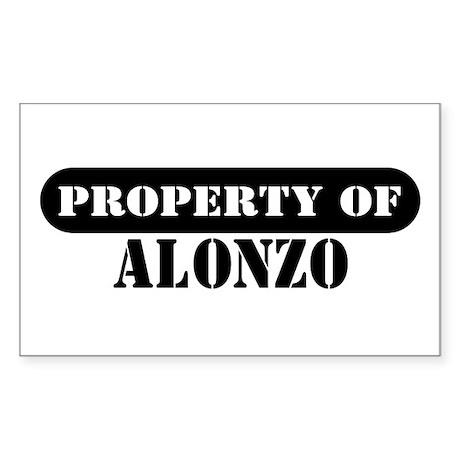 Property of Alonzo Rectangle Sticker