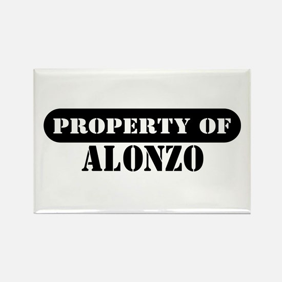 Property of Alonzo Rectangle Magnet