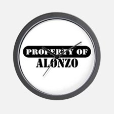 Property of Alonzo Wall Clock