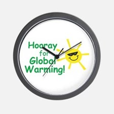 Hooray for Global Warming Wall Clock