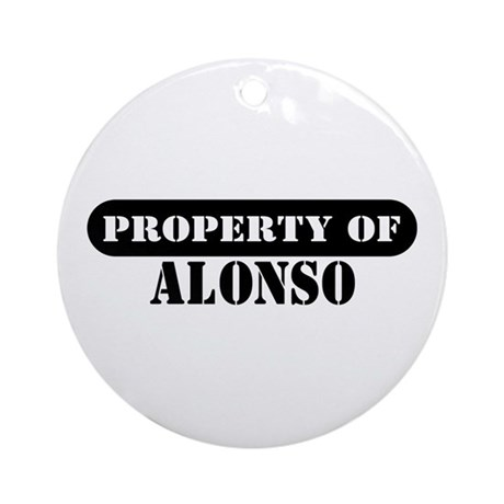 Property of Alonso Ornament (Round)