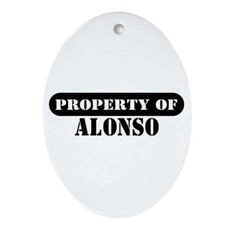 Property of Alonso Oval Ornament