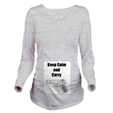 Keep calm and carry Long Sleeve Maternity T-Shirt