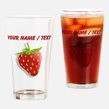 Custom Red Strawberry Drinking Glass
