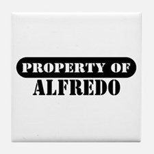 Property of Alfredo Tile Coaster