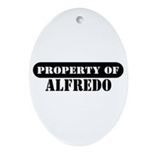 Property of Alfredo Oval Ornament