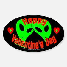 Happy Valientine's Day V1 Dark Oval Decal