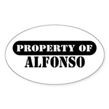 Property of Alfonso Oval Decal