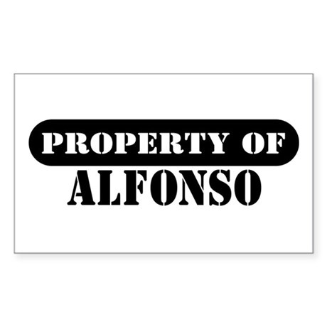 Property of Alfonso Rectangle Sticker