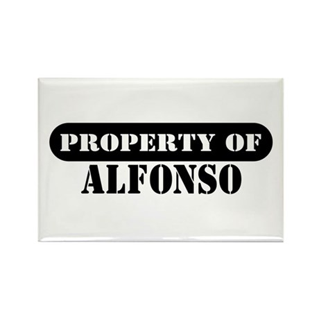 Property of Alfonso Rectangle Magnet (10 pack)