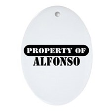 Property of Alfonso Oval Ornament