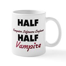 Half Computer Software Engineer Half Vampire Mugs